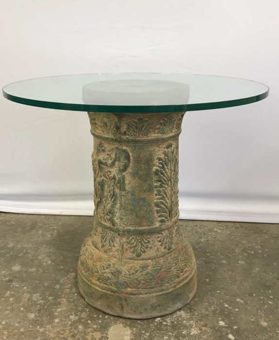 Round Glass Top Pedestal Table