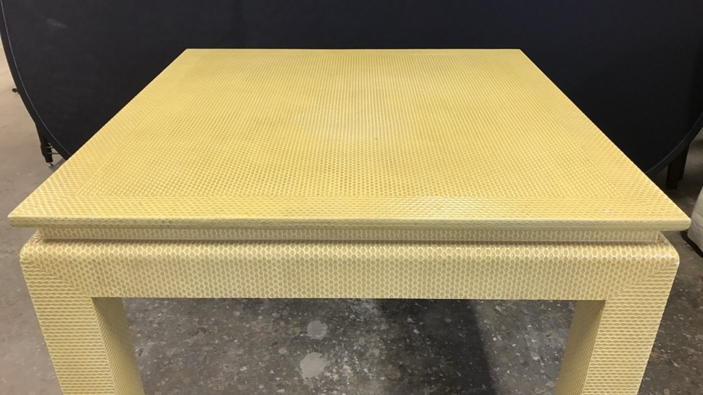 Mid Century Modern Textured Table - 2