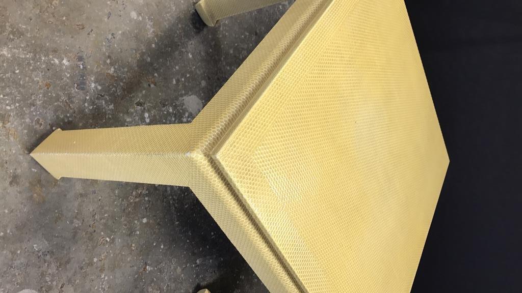 Mid Century Modern Textured Table - 4