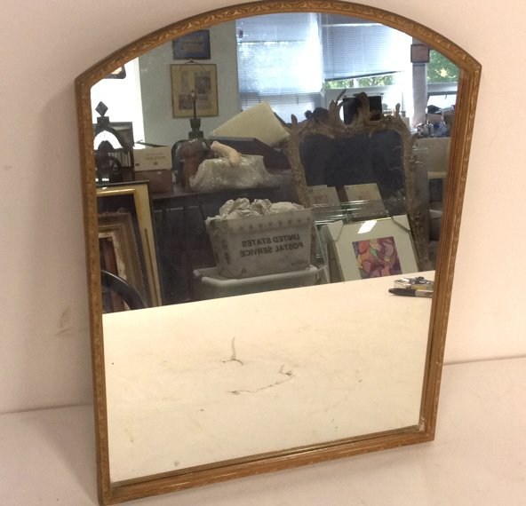 Vintage Gold Painted Framed Mirror