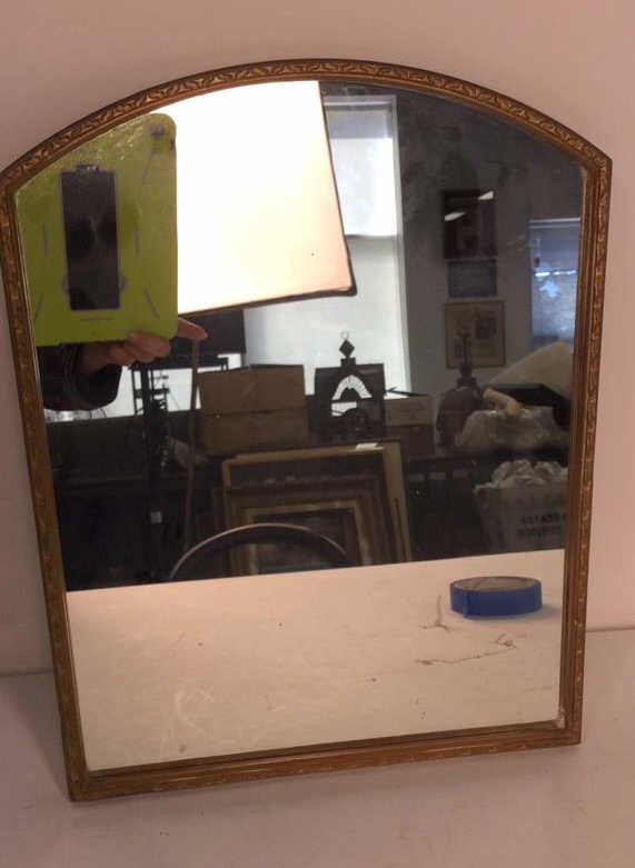 Vintage Gold Painted Framed Mirror - 2