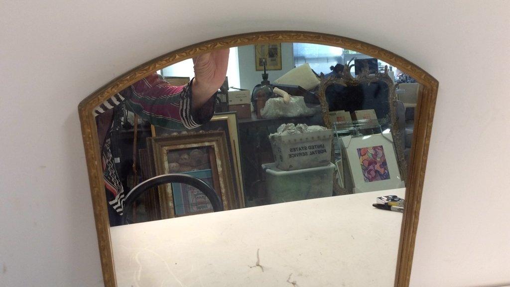 Vintage Gold Painted Framed Mirror - 8