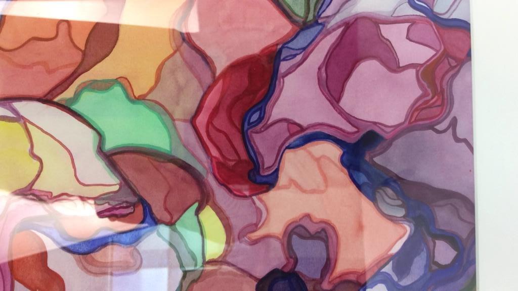 Lita Schwartzberg signed abstract artwork - 2