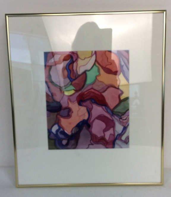 Lita Schwartzberg signed abstract artwork - 3