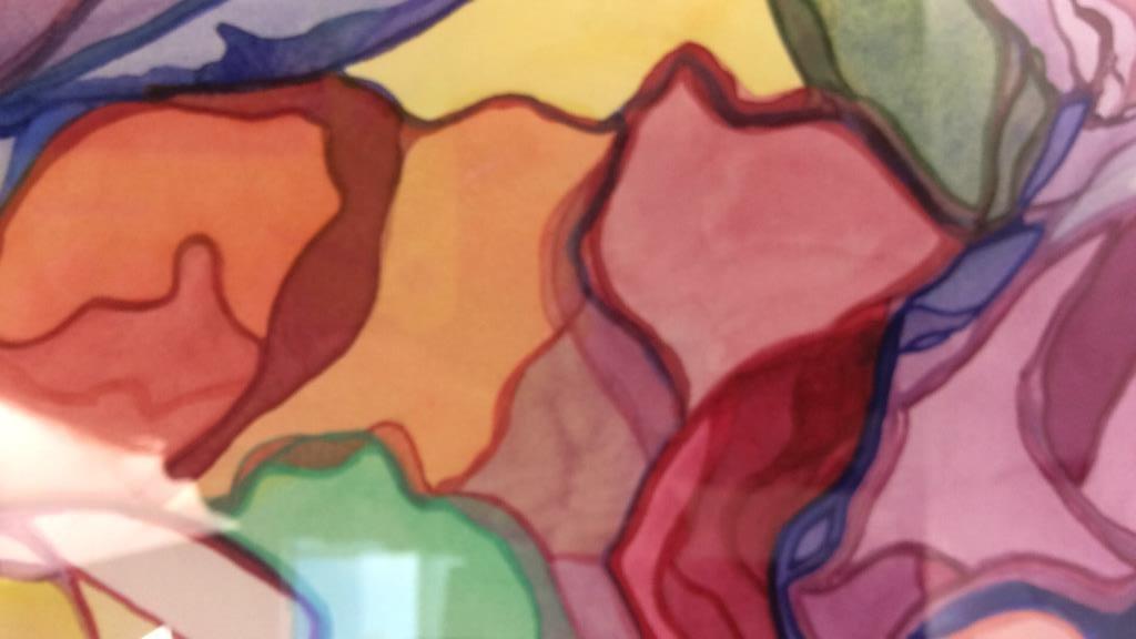 Lita Schwartzberg signed abstract artwork - 8