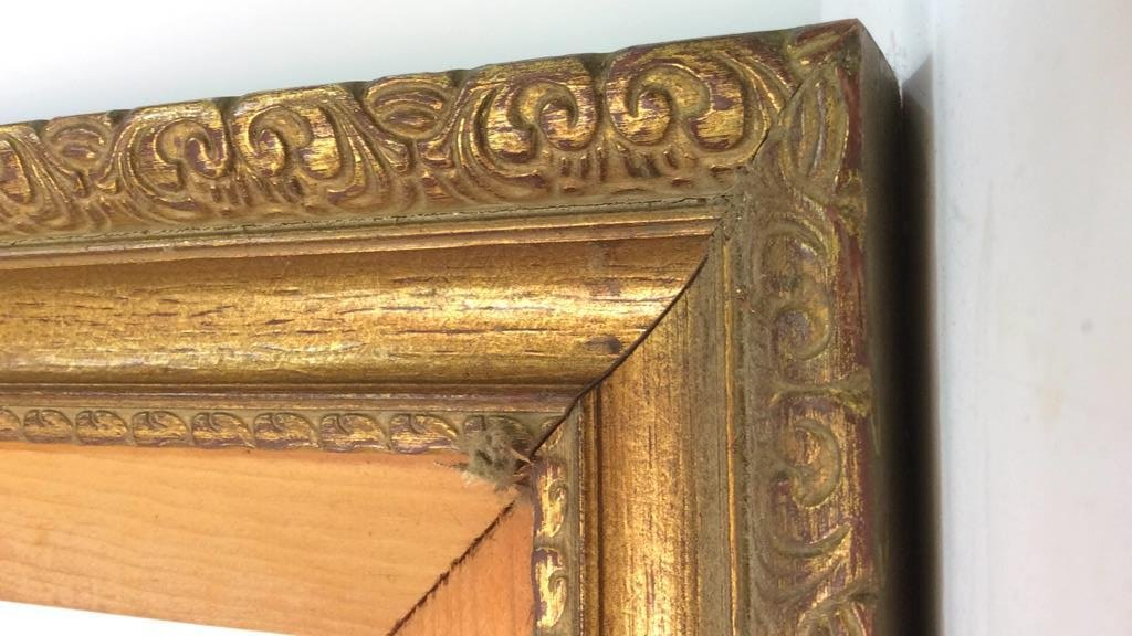 Pair Carved Gold Leafed Large Art Frames - 5