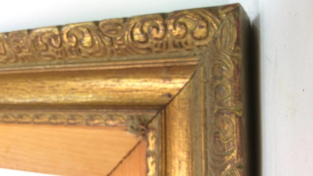 Pair Carved Gold Leafed Large Art Frames - 6