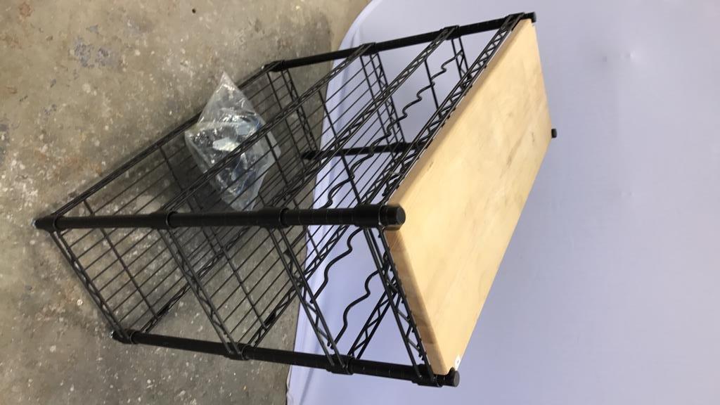 INTERMETRO Industrial Bar Cart - 5