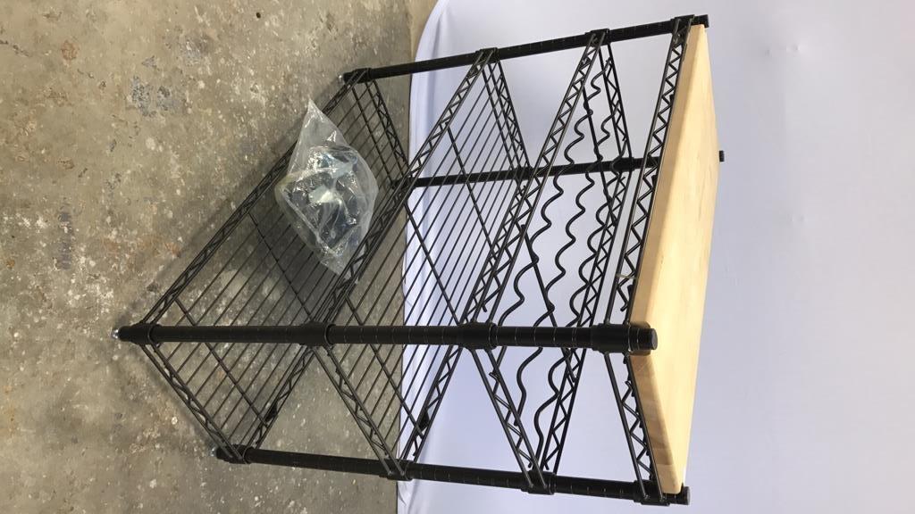 INTERMETRO Industrial Bar Cart - 6