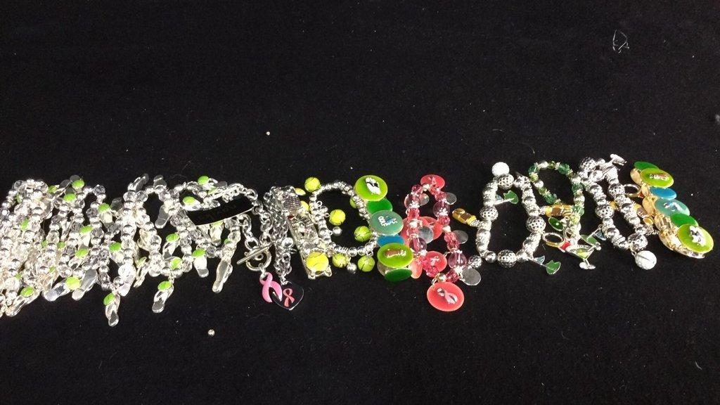 Group 17 Theme Charm Bracelets NEW