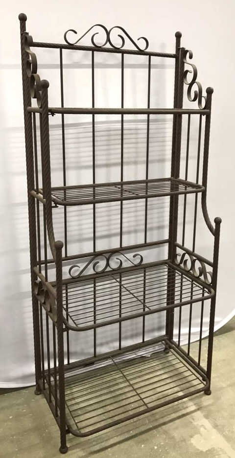 Portable Rustic Style Bakers Rack