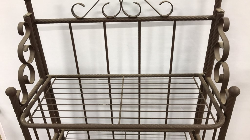 Portable Rustic Style Bakers Rack - 4