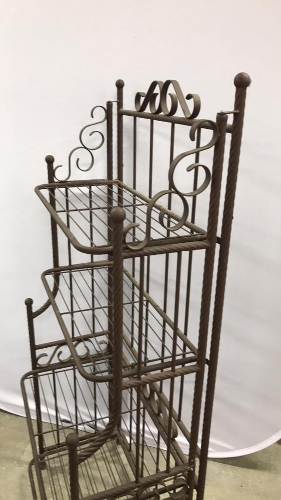 Portable Rustic Style Bakers Rack - 6
