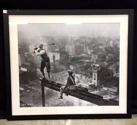 Framed TEE TIME Print Black & White