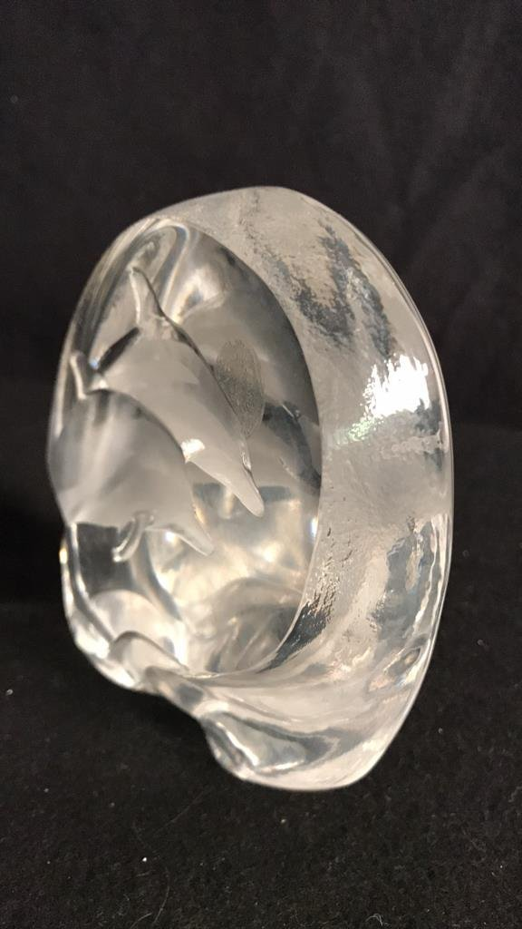 Signed MATS JONASSON Lead Crystal Form - 4