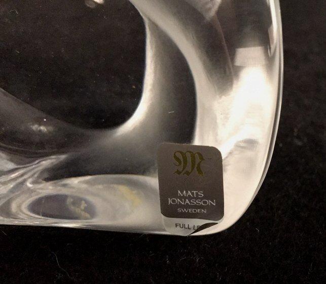 Signed MATS JONASSON Lead Crystal Form - 5