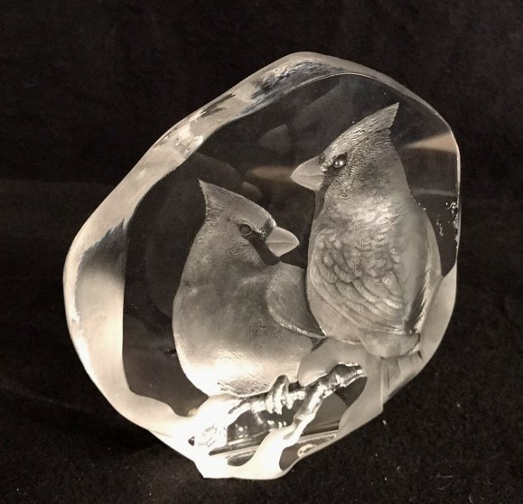 Signed MATS JONASSON Lead Crystal Form - 2