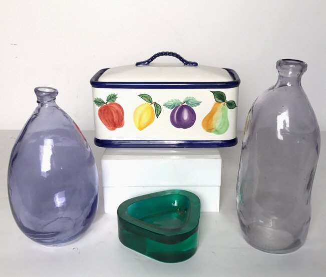 Group Lot Collectible Art Glass Vases