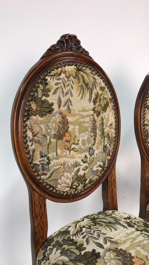 Set Four Antique Louis XVI Side Chairs - 3
