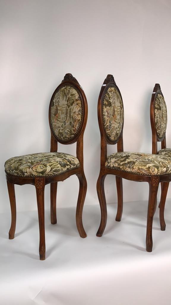 Set Four Antique Louis XVI Side Chairs - 4