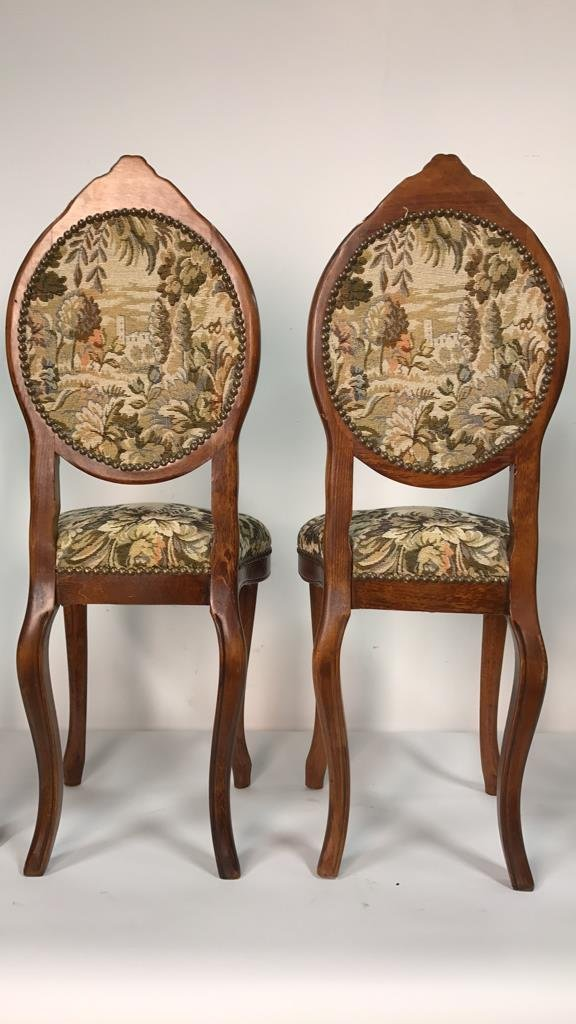 Set Four Antique Louis XVI Side Chairs - 5