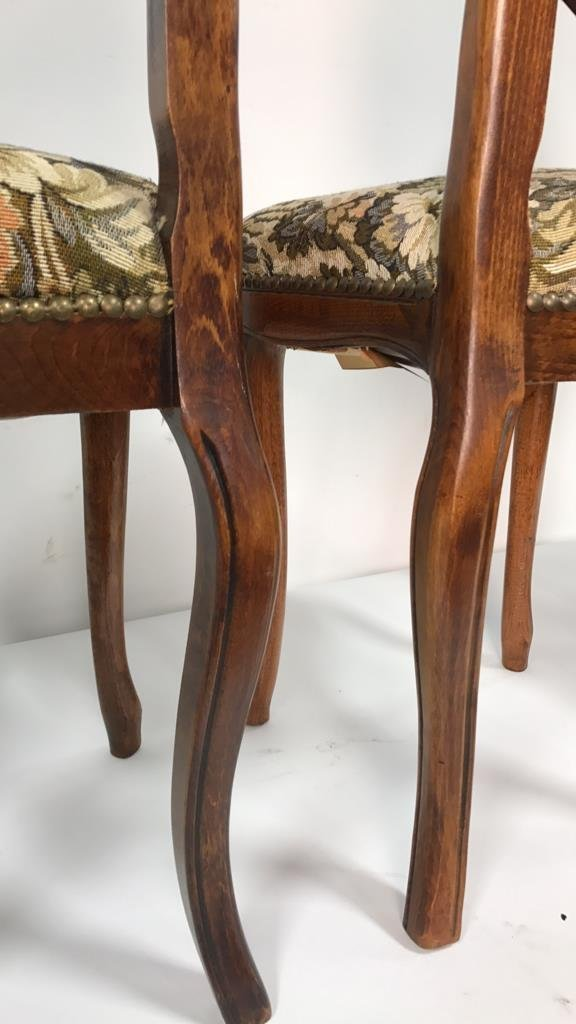 Set Four Antique Louis XVI Side Chairs - 6