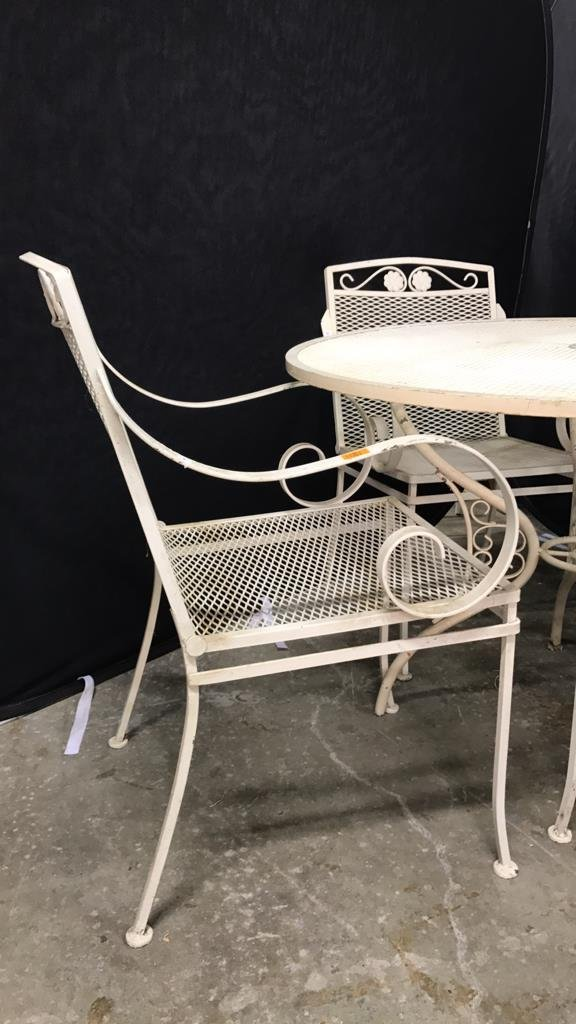 Vintage Mid Century Wrought Iron Patio Set - 2