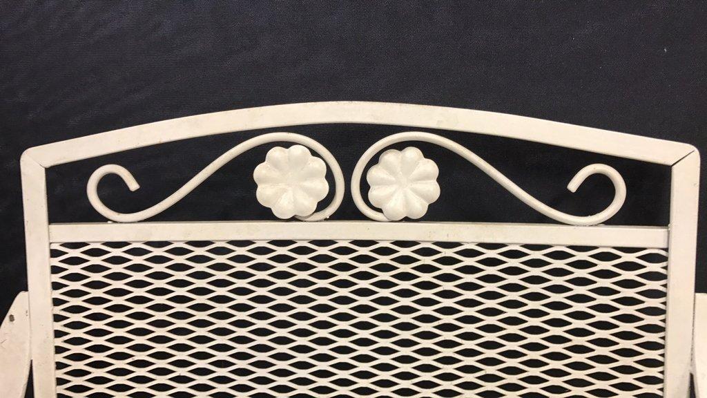 Vintage Mid Century Wrought Iron Patio Set - 7