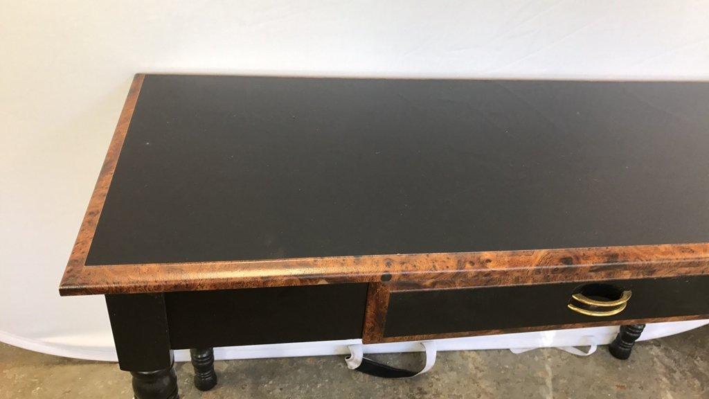 Black Wood Desk/ Console Table - 6
