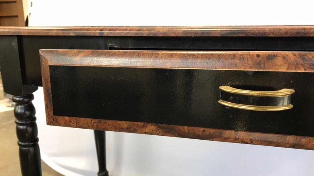 Black Wood Desk/ Console Table - 8