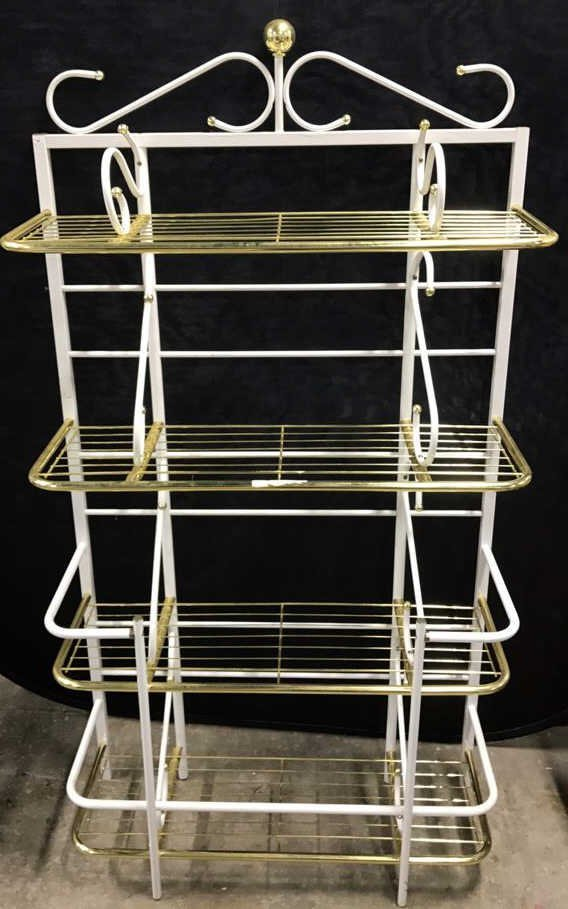 Brass and Metal Finish Bakers Rack - 2