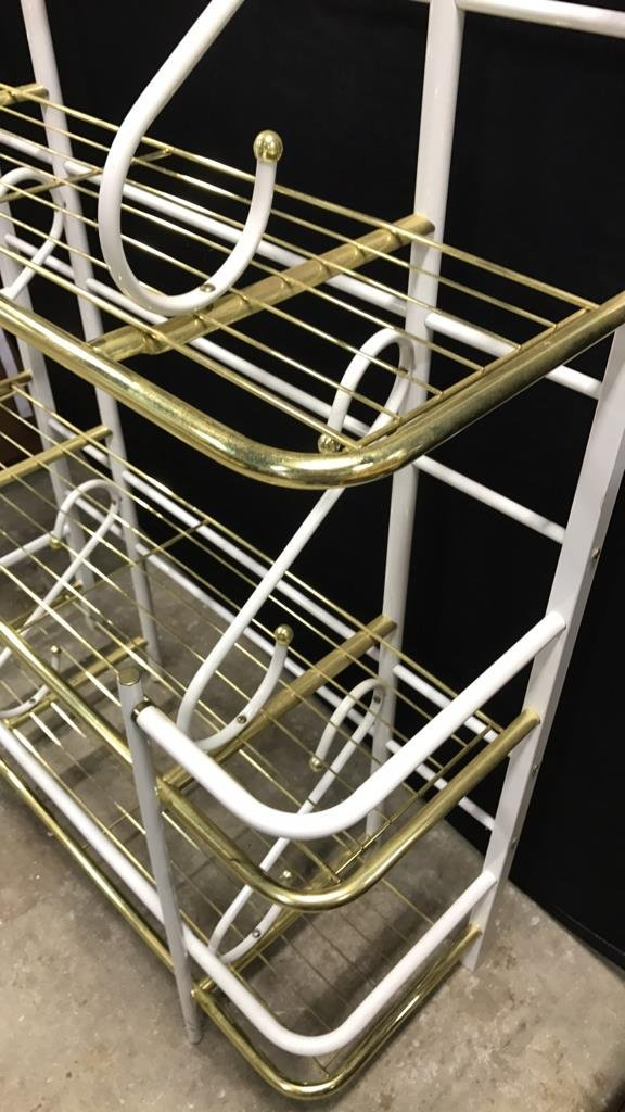 Brass and Metal Finish Bakers Rack - 3