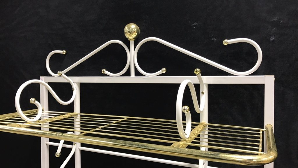 Brass and Metal Finish Bakers Rack - 4