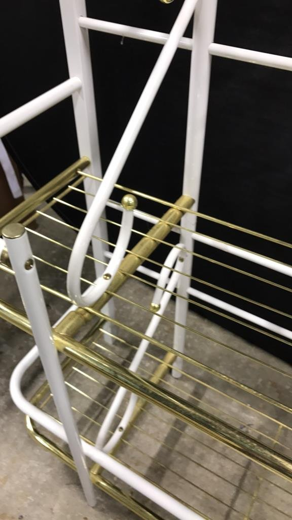 Brass and Metal Finish Bakers Rack - 5