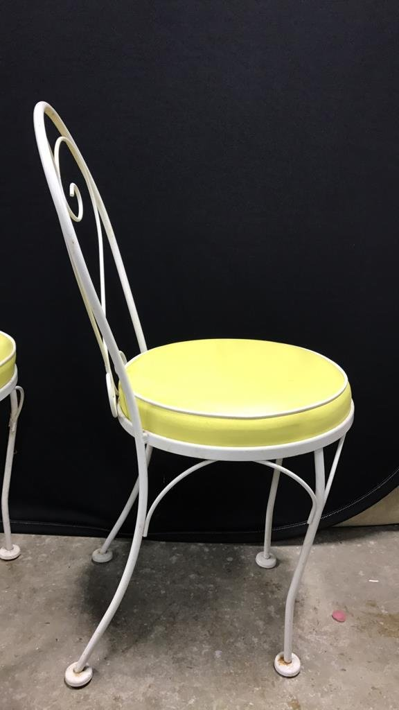 Vintage Tempered Glass Patio Set 2 Chairs - 5