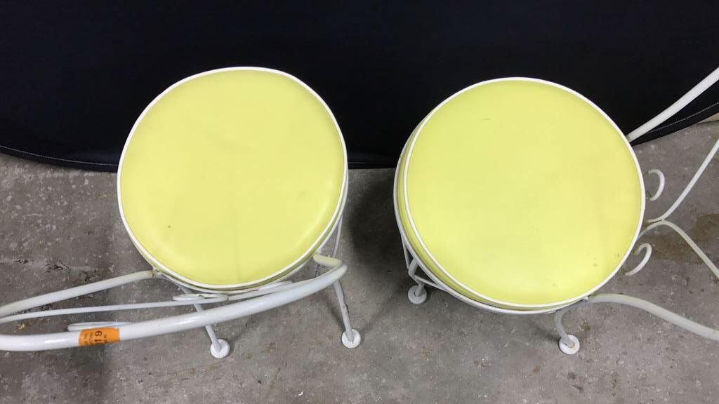 Vintage Tempered Glass Patio Set 2 Chairs - 7