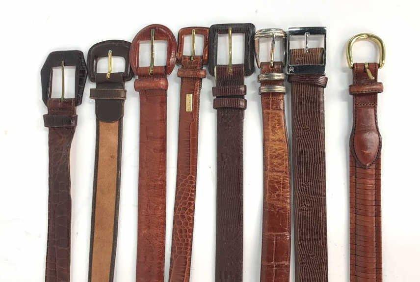 8 Piece Women's Designer Leather Belts
