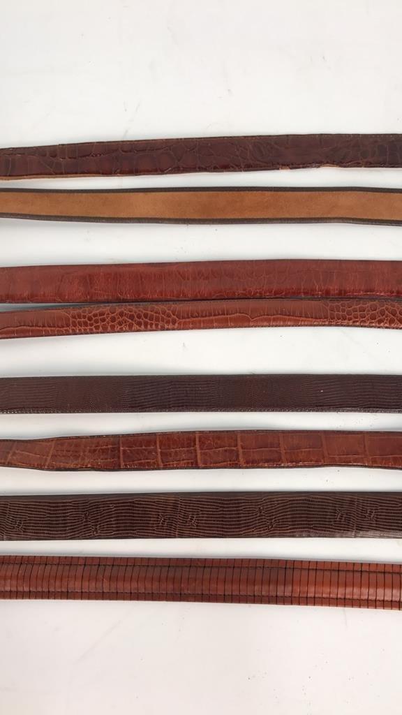 8 Piece Women's Designer Leather Belts - 4