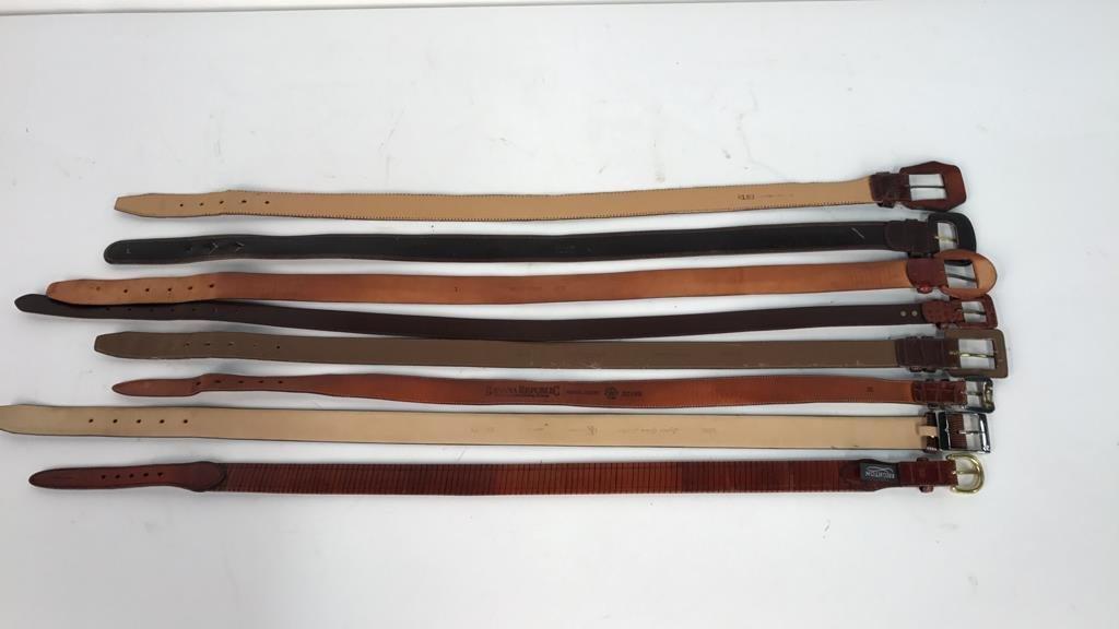 8 Piece Women's Designer Leather Belts - 6