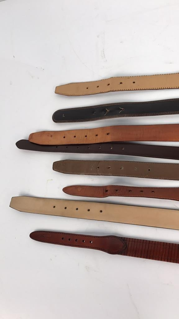 8 Piece Women's Designer Leather Belts - 9