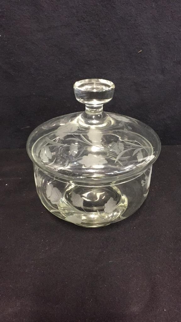 9 Piece Vintage Glass & Crystal Lot - 4