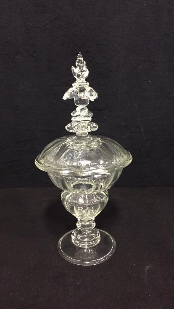 9 Piece Vintage Glass & Crystal Lot - 8