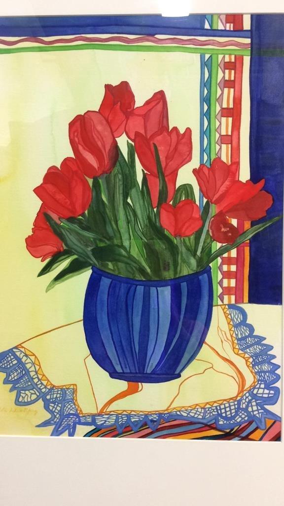 Lita Schwartzberg Tulip Painting - 4