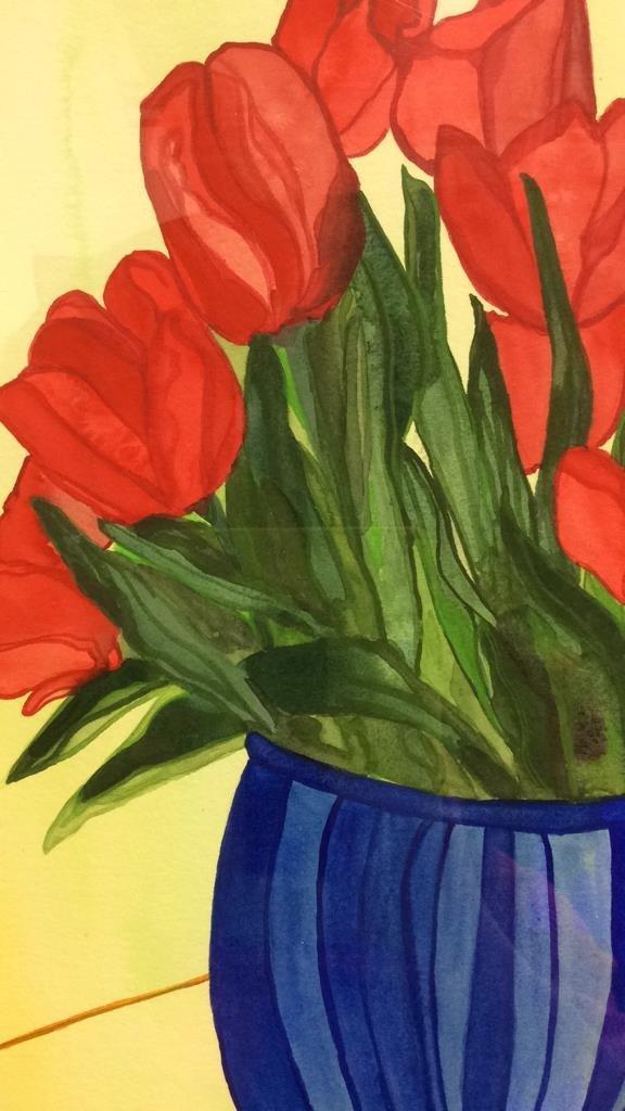 Lita Schwartzberg Tulip Painting - 6