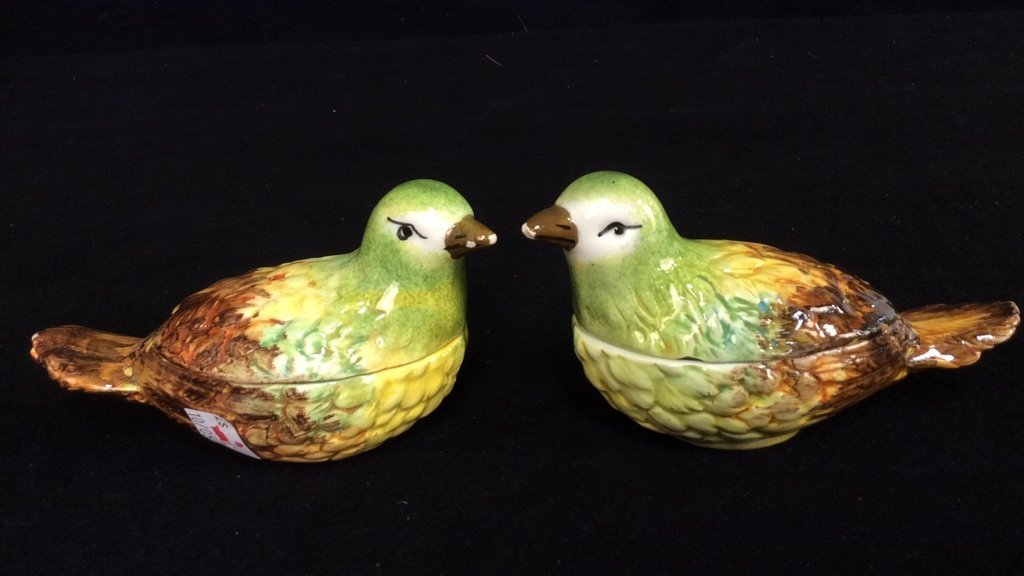 Italy Painted Pottery Pitcher Bird Cups - 7