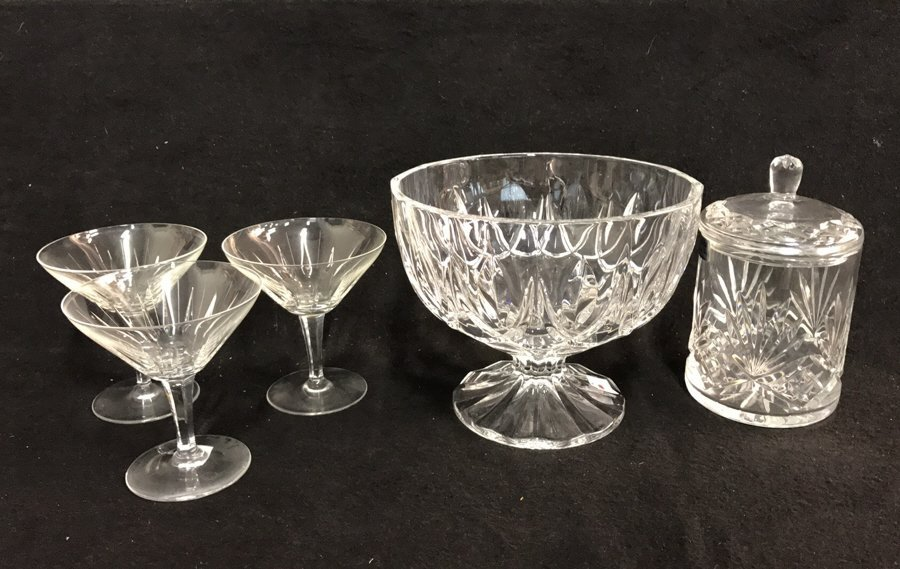 5 Piece Marked Crystal Group Lot