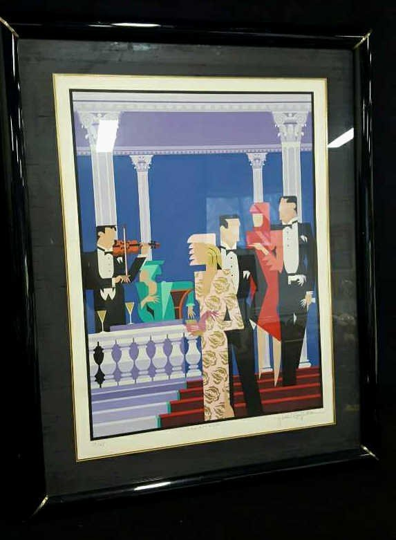 GIANCARLO IMPIGLIA Signed THE PARTY IS OVER Litho