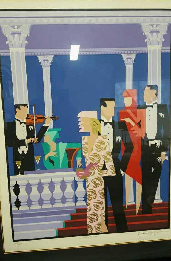 GIANCARLO IMPIGLIA Signed THE PARTY IS OVER Litho - 2