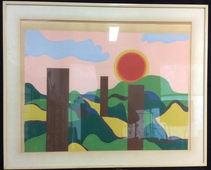 Framed Acrylic Pop Art painting