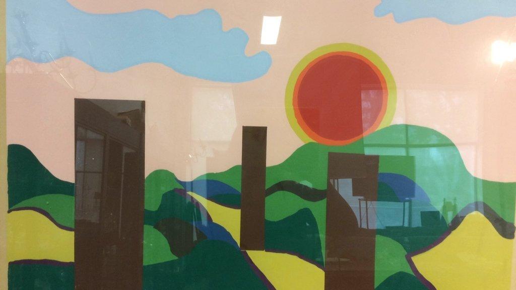 Framed Acrylic Pop Art painting - 3